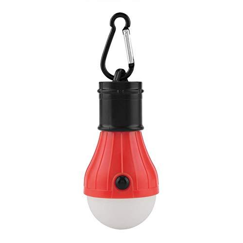 Linterna de tienda de campaña, 3 modos de iluminación Mini y cuerpo compacto portátil Camping luz colgante bombilla sólida y resistente para usar amplia aplicación para acampar para pesca (rojo)