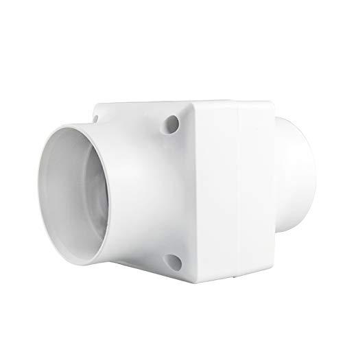 Starsmyy 75mm / 3'' Klein Rohrventilator Rohreinschub Abluft Lüfter Rohr Ventilator Leise, niedrigem Energieverbrauch 5W, Abluftventilator für Büro, Bad, Halle, Hydroponic Zimmer, 55M³/H