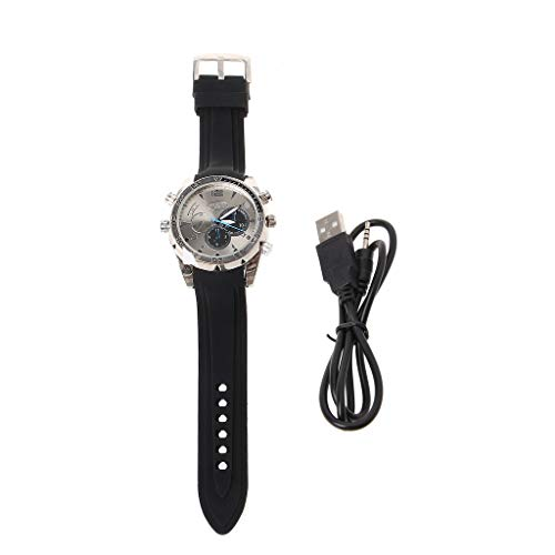 Spy 1080P Cámara Oculta Impermeable Reloj de Pulsera DV 8GB Video IR Visión Nocturna