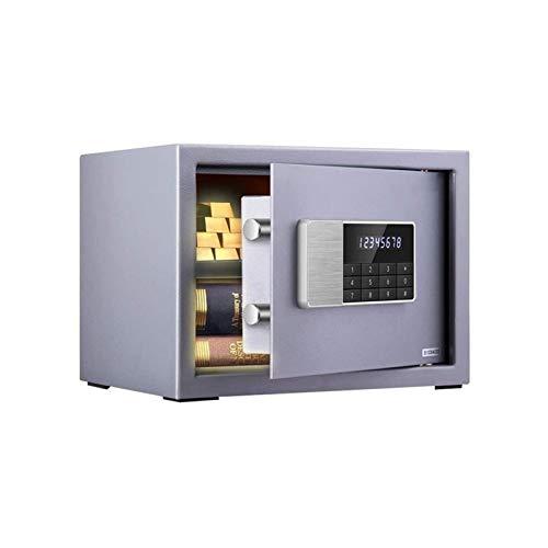 XHMCDZ Seguridad Digital Caja de Seguridad del Ministerio del Interior for la seguridad de bloqueo de teclas y contraseña mini caja fuerte mesita de noche caja de seguridad en la pared contraseña elec