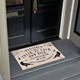 "rfy9u7 Indoor Doormat Front Door Mat Non Slip Backing- Welcome Enter at Your Own Risk Ouija Board Doormat-Coral Velvet Super Absorbent Dirts Mats Entrance Door Rug 20""×32""×0.3"""