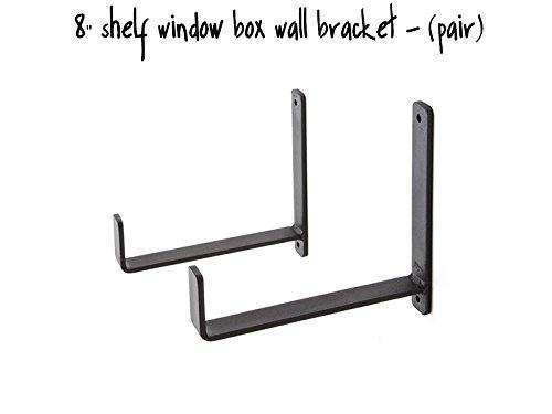 "8"" Shelf Window Box Wall Bracket - (Pair)"