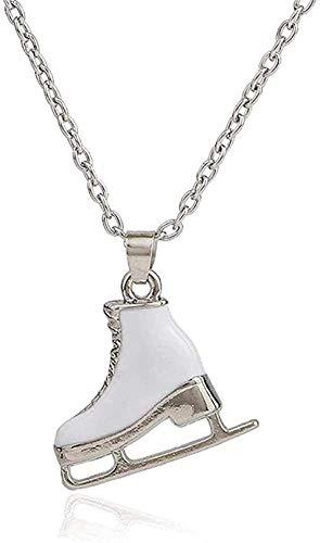 NC110 Mode weiße Emaille Skate Schuhe Anhänger Schmuck Halskette