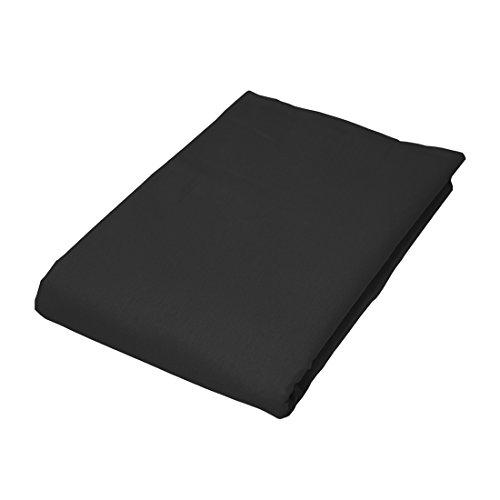 Qool24 Bettlaken 100% Baumwolle ohne Gummizug KATBE Betttuch Überwurf Haustuch 18 Farben und 4 Größen Schwarz 70x140 cm
