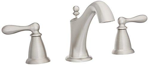 Moen WS84440SRN Caldwell Two-Handle High Arc Bathroom Faucet, Spot Resist Brushed Nickel