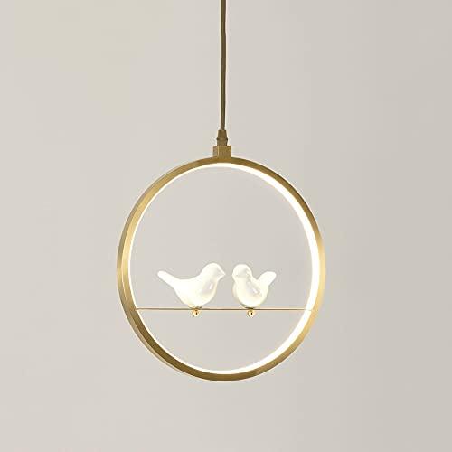 Wmdtr Lámpara Colgante de pájaro de pájaro de pájaro de pájaro de pájaro de pájaro de pájaro led Simple LED de Altura de iluminación de Altura de Altura Ajustable para Dormitorio, Sala de Estar, café
