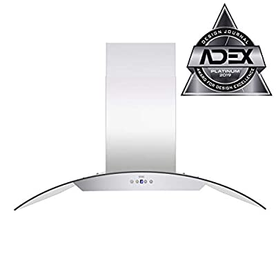 KOBE Range Hoods ISX2430SQB-2 Island range hood 30-inch Stainless Steel