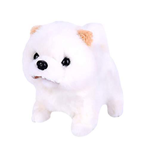 JERFER Simulation Realistic Teddy Dog Lucky, Smart Kann Als Wandelndes Elektrisches Plüschtier Teddy Robot Dog Kinderspielzeug Bezeichnet A73