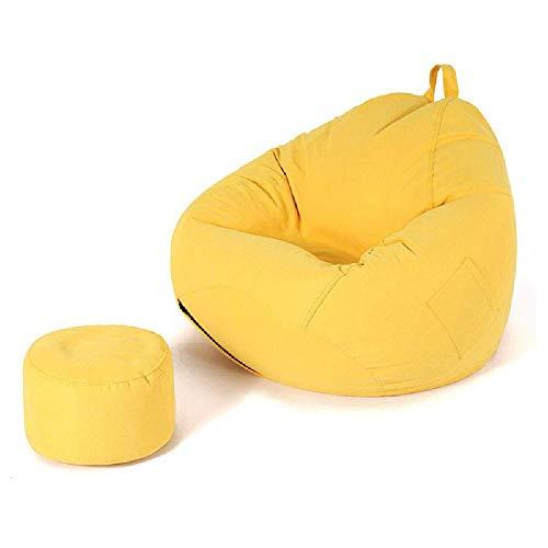 XHCP Sofá clásico con sillón y puf de Pana con Relleno Sofá de salón para niños, Adolescentes, Adultos, Sala de Estar, Dormitorio, Interior, Exterior, A