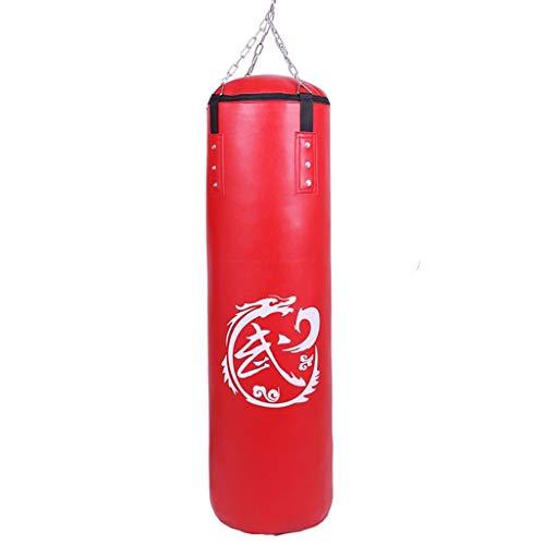 WANGYI Pedestal Boxen Taschen Boxsack Kick Boxing Gefüllt Set Schwere MMA Training Jugend Kampfsport Handschuhe Pratze hängende Kette Deckenhaken Muay Thai (Color : Red, Size : 120cm)