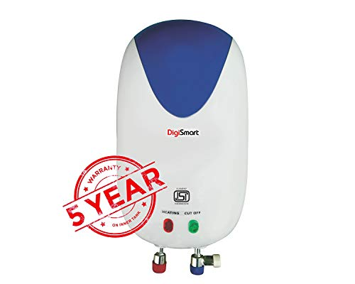 DIGISMART 3KVA Instant 3 LTR Full ABS Body Special Anti Rust Coating Tank Geyser with 5 Year Warranty Premium (White&Blue)