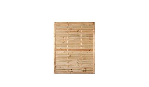 Preiswerter Lamellenzaun / Terrassen Windschutz in den Maßen 120 x 150 (Breite x Höhe) aus druckimprägniertem Kiefer/Fichte Holz