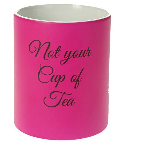 Personalisierte Tasse mit Namen | 0,3 l Farbige Kaffeetasse Teetasse mit eigenem Text Coffee Mug Geschenkidee für jeden Anlass (Neon Pink)