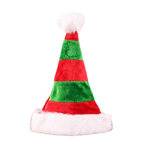Yuncai Weihnachten Classic Verdicken Plüsch Weihnachtsmütze Xmas Holiday Party für Erwachsene und Kinder (Style#3, 32 * 45cm)