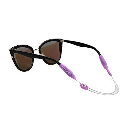 Retentor de óculos ajustável sem cauda Pilotfish – Alça com suporte de óculos de sol – Retentor de óculos de sol (coral roxo, 35,5 cm)
