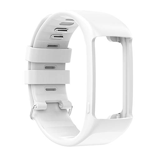 Sport Smart Watch Strap Replacement Wrist Band for Polar A360 A370 (White)