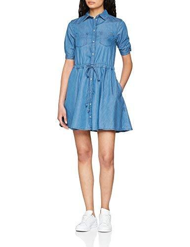 Pepe Jeans Marta PL952148 Vestido, Azul (7Oz Soft Random Blch 000), Small para Mujer
