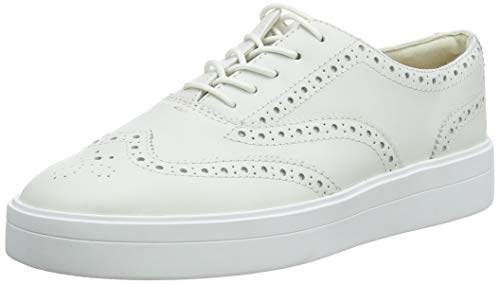 Clarks Damen Hero Brogue. Brogues, Weiß (White Leather White Leather), 40 EU