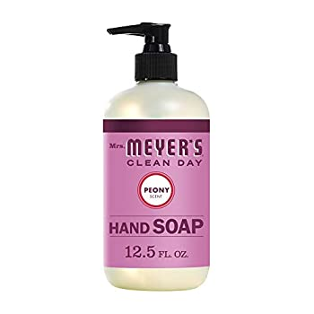 Mrs Meyer s Clean Day Liquid Hand Soap Cruelty Free and Biodegradable Hand Wash Made with Essential Oils Peony Scent 12.5 oz Bottle