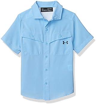Under Armour Boys  Big UA MESH Button UP Carolina Blue YSM
