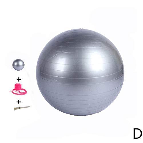 JNXZHJJ Deportes Pelotas de Yoga Pilates Fitness Equilibrio Ejercicio Aleatorio MasajeTapón de Entrenamiento Color de Entrenamiento Bomba de Aire Ball65cm