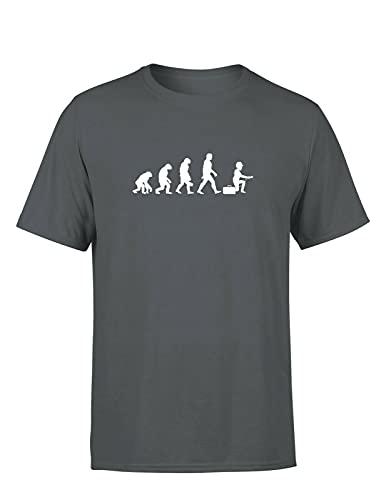 Elektriker Evolution Herren T-Shirt Workwear Spruchshirt für Elektriker und Mechatroniker, Farbe: Dunkelgrau, Größe: X-Large