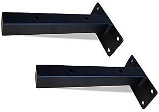 DSJMUY Shelf Bracket Iron, Floating Shelves Hidden, Wall Mounted Scaffold Board, Including Accessories, 15/20/25/30cm, Bla...