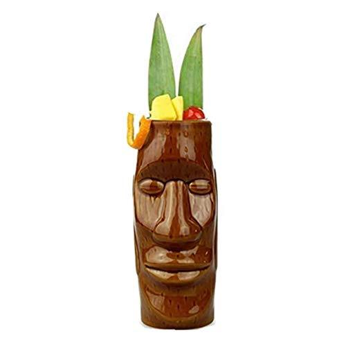 Magent Juego de vasos Tiki, de cerámica, vasos de cóctel – Tiki de cerámica, vasos de cóctel, bebidas, fiesta hawaiana