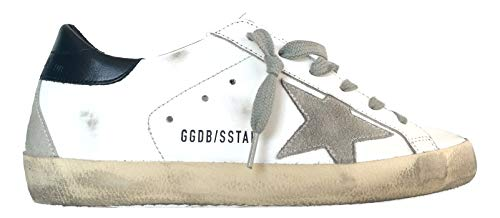 Golden Goose - Zapatillas de mujer Superstar Vintage G35WS590.A7, blanco y azul Blanco Size: 35 EU