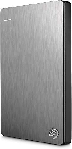 Seagate Backup Plus Slim 1 TB tragbare externe Festplatte (6,3 cm (2,5 Zoll) USB 3.0, PC und Mac) silber