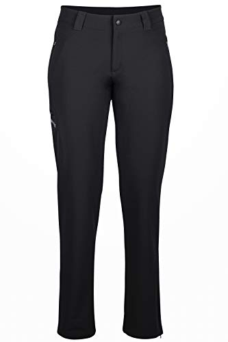 Marmot Wm's Scree Pant Short Pantalon de randonnée Softshell, Pantalon Outdoor Femme, déperlant, Respirant Femme Black FR: XXS (Taille Fabricant: 02)