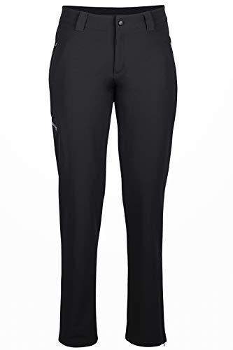 Marmot Damen Scree Pant Trekkinghose Softshell Funktionshose , Schwarz (Black) , L (Herstellergröße : 10)