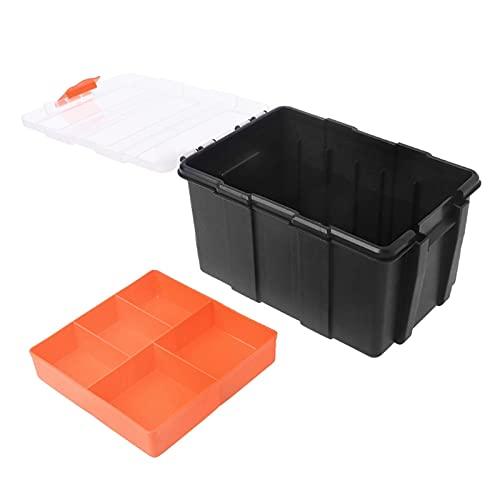 Caja de herramientas Caja de herramientas con tapa transparente Herramientas de hardware herramientas multifuncionales Caja Organizador de plástico para reparación de automóviles electricista Almacena