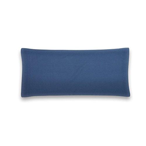 Sancarlos - Funda de almohada para cama, 100% Algodón percal, Color azul marino, Cama de 90 cm