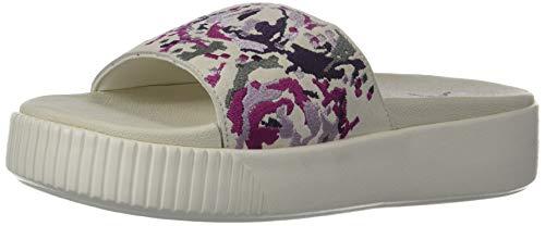 PUMA Damen Platform Slide Sandal, Weiá (Whisper White-puma Aged Silver-shadow Purple), 36.5 EU