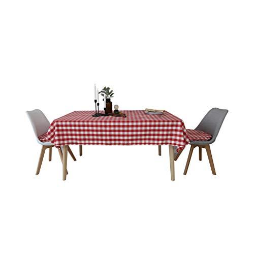 Nappes Tissu Nappe Coton et lin Boîte Rouge Table Tissu Ménage Table basse chevet Comptoir tissu mwsoz (Taille : 130X200cm)