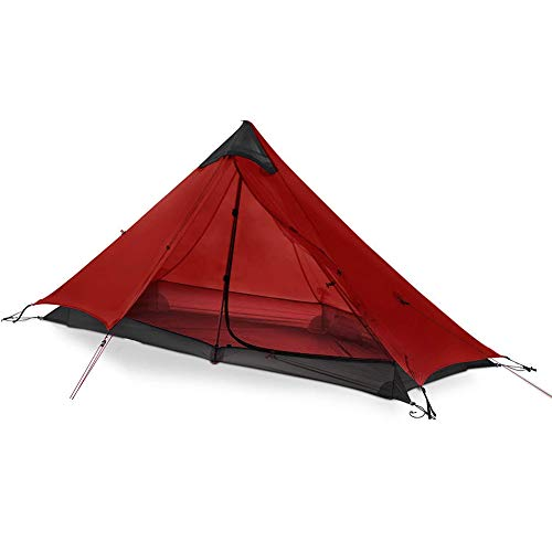 ZXGQF Tents Outdoor Camping, Backpacking Tent lightweight Mesh Shelter- Anti-UV Protection, for Outdoors, Hiking, Climbing, Riding, and Travel 210×110×125 cm (red)