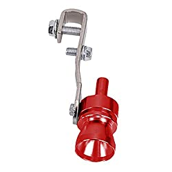 Turbo Sound Whistle Turbo Sound Pfeife Auto Auspuff Endrohr Blow-Off Ventil Universal-Aluminium-Auspuffrohr Rohr Auto Blow Off Valve Endrohr Gerade Endrohr Fit Rohre Rohr für Auto Car (S)