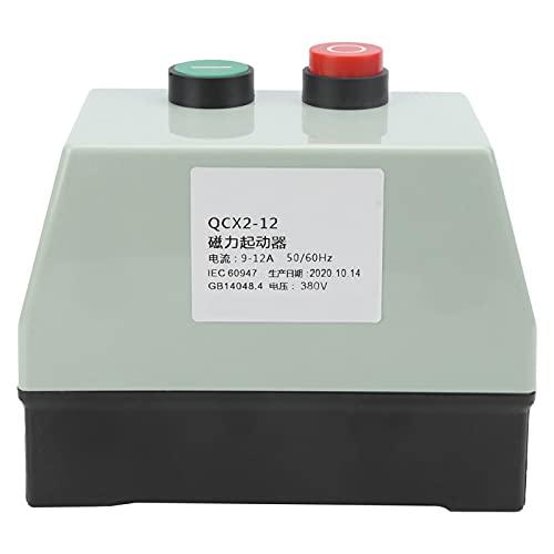 Interruptor de arranque eléctrico magnético Control de sobrecarga Protección ABS Cobre con botones de encendido/apagado AC380V QCX2-12 IP65