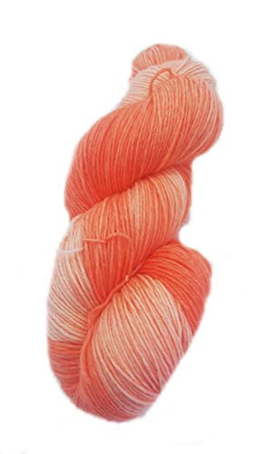 Sockenwolle handgefärbt 6fädig 150 g ca 420 m 75% Wolle/25% Polyamid - scarlet