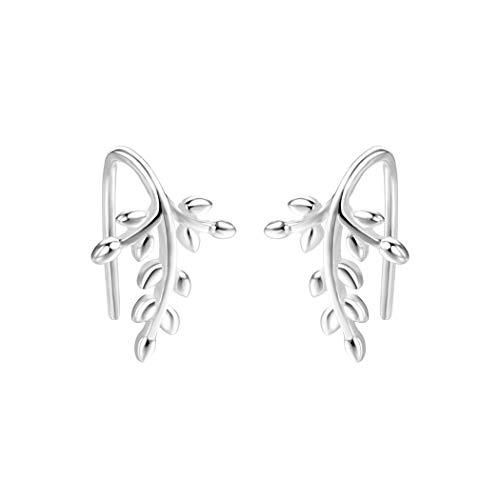 GMZOO Damesoorbellen Bladeren Vorm Drop Oorbellen Voor Vrouwen Vrouwelijke Zoete Kleine Leuke Meisje Bladeren Oorbellen Piercing Minimalistische Sieraden