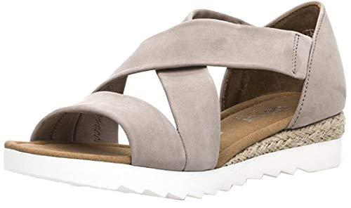 Gabor Damenschuhe 82.711.43 Damen Sandaletten, Sandalen, Sommerschuhe, Strandschuhe, mehr Raum Dank Comfort-Mehrweite Beige (leinen (Jute)), UK 9