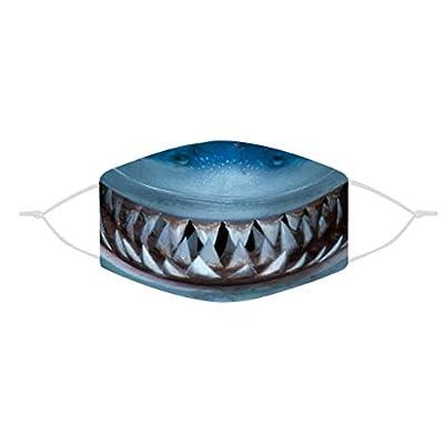 Schedar Adults Dustproof Face Bandanas Funny Shark Teeth Print Face Wear Wrap