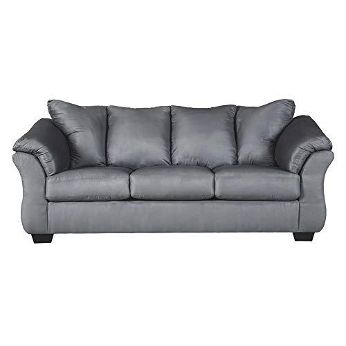 Signature Design by Ashley - Darcy Contemporary Full Sofa Sleeper, Steel Gray