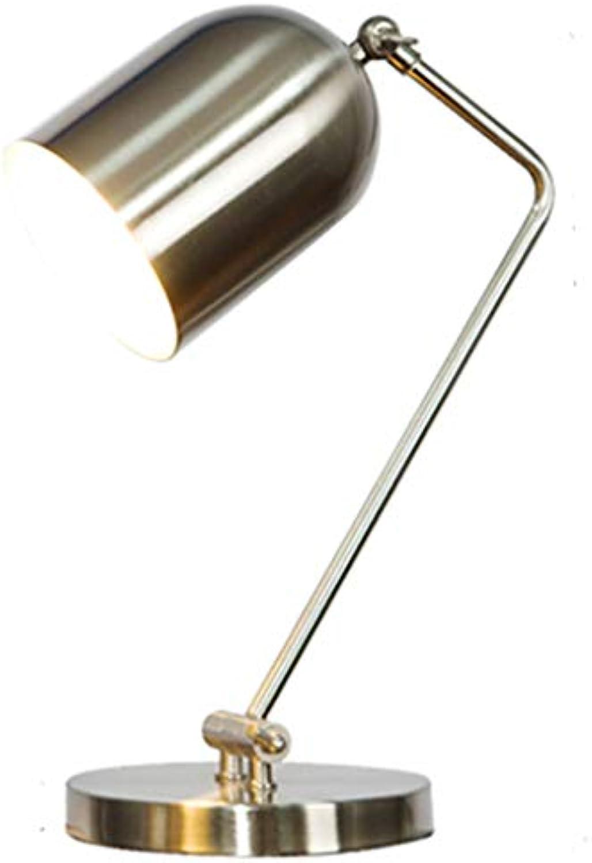Tischlampe Xiuyun Eisen Schlafzimmer Schlafsaal (Farbe   Natürlich)