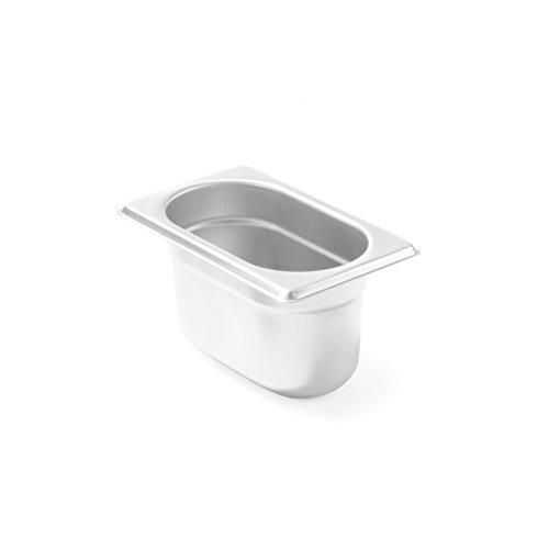 Hendi Gastronormbehälter, temperaturbeständig von -40° bis 300°C, Heissluftöfen-Kühl- und Tiefkühlschränken-Chafing Dishes-Bain Marie, 0, 6L, GN 1/9, 176X108X(H)65Mm, Edelstahl