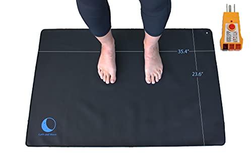 Grounding Mat Universal Starter Kit, Improved Sleep, Reduced Anxiety, Pain and Inflammation, Tension Headache Relief, Earth and Moon Grounding Mats for Health