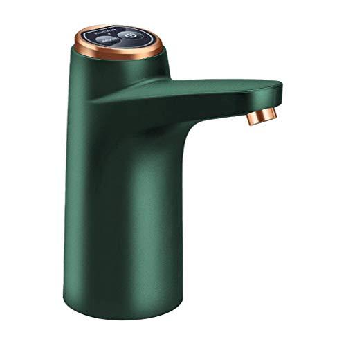 Fenteer Bomba de jarra de agua, bomba de botella de agua eléctrica, bomba de agua potable automática de carga USB, dispensador de agua portátil para Camping - Verde