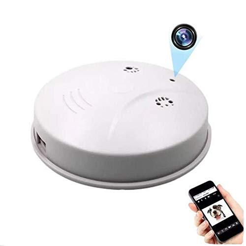 GEQWE Cámara Espía, Detector De Humo De Cámara 1080P HD, WiFi Oculto Monitor De Techo De Sala De Detección De Movimiento Inalámbrico Cámara Espía Cámara Inalámbrica CCTV Oculta