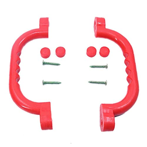 Bao xiang Antideslizante Barra De Sujeción Infantil Plástico del Marco De La Manija Escalada Equipo De La Diversión Apretones Rojo Accesorios 1pair